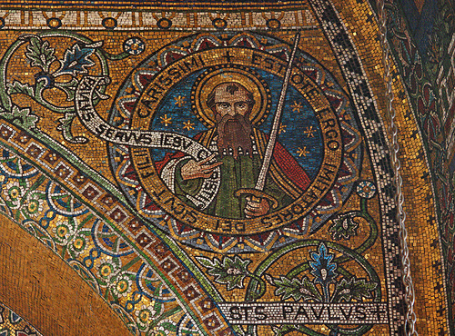 A beautiful mosaic of St Paul in Westminster Cathedral.